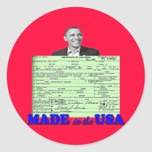 Obama 2012 Made in USA Stickers