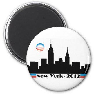 Obama 2012 New York City Skyline 6 Cm Round Magnet