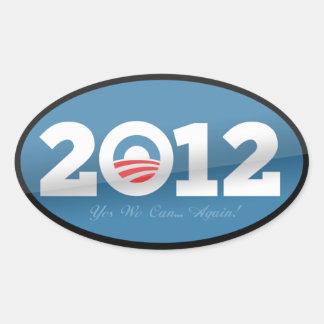 Obama 2012 Official Logo Oval Sticker