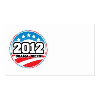 Obama 2012 pack of standard business cards