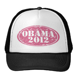 obama 2012 pink faded cap