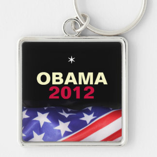 OBAMA 2012 Premium Square Keychain (Large)
