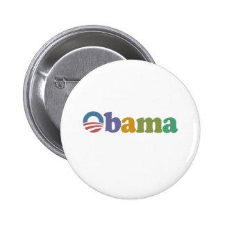 Obama 2012 Rainbow Button