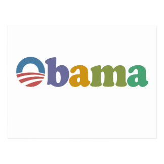 Obama 2012 Rainbow Postcard