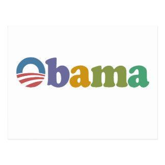 Obama 2012 Rainbow Postcards