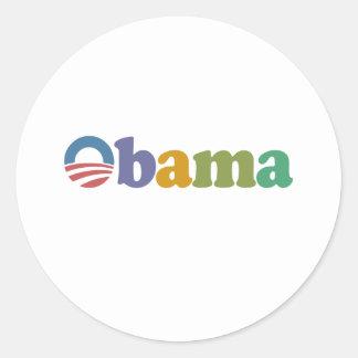 Obama 2012 Rainbow Round Sticker
