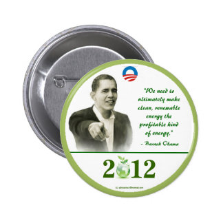 OBAMA 2012 RENEWABLE ENERGY political pinback butt 6 Cm Round Badge