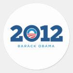 Obama 2012 round sticker