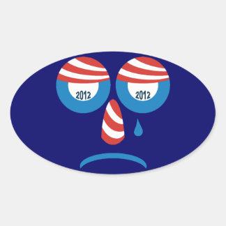 Obama 2012 Sad Face Sticker
