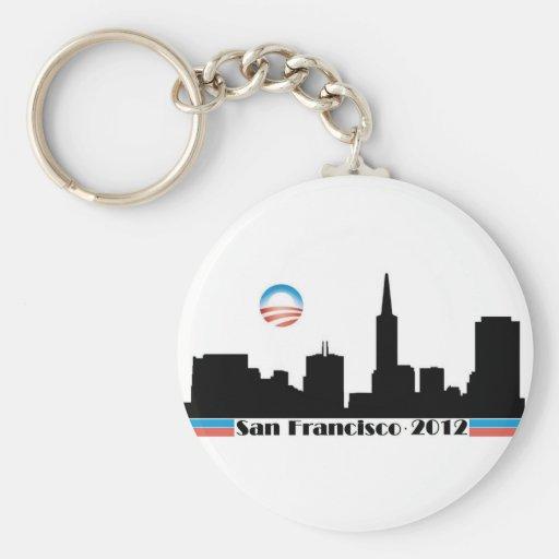 Obama 2012 San Francisco Skyline Key Chain