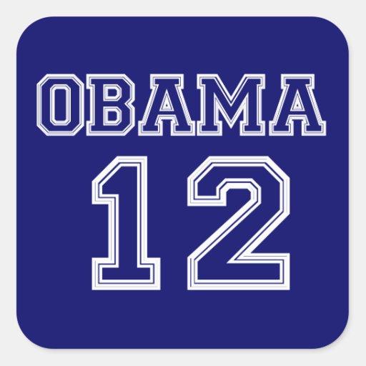 Obama 2012 Sports Letter Sticker