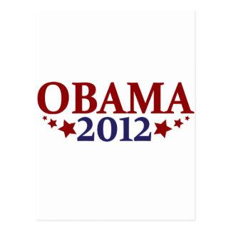 Obama 2012 Stars Postcard