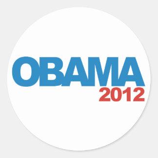 OBAMA 2012 ROUND STICKERS