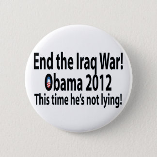 Obama 2012 This time he's not lying! 6 Cm Round Badge