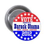 Obama 2012 (Vintage Style) Pin