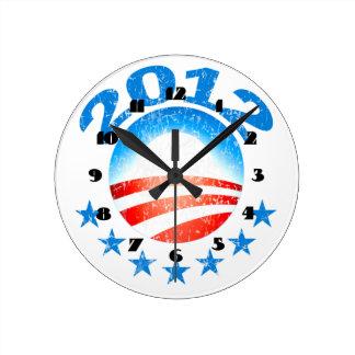 Obama 2012 Wall Clock