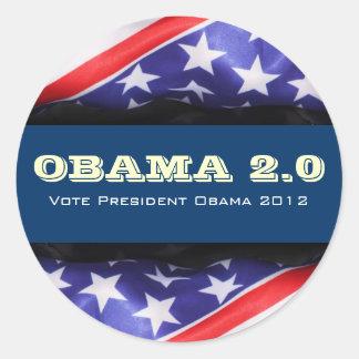 OBAMA 2.0 Campaign 2012 Round Sticker