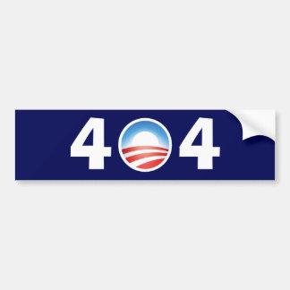 Obama 404 Clueless - File Not Found Bumper Sticker
