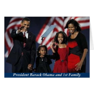 Obama 44th First Family Greeting Card