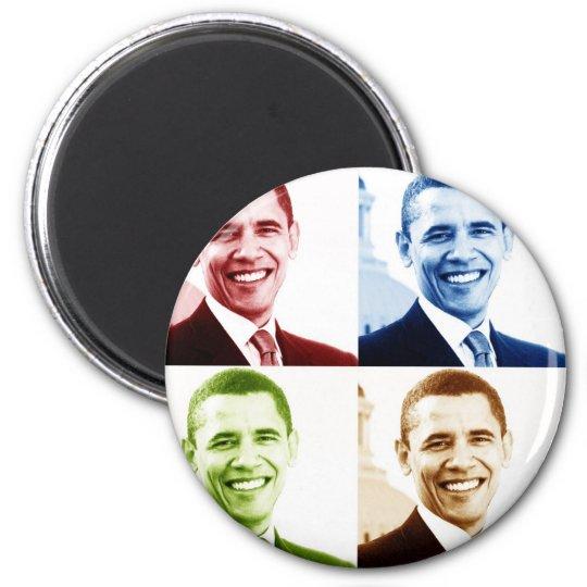 obama 4chrome 6 cm round magnet