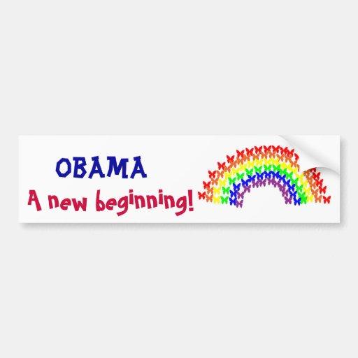 Obama, A new beginning! Bumper Sticker