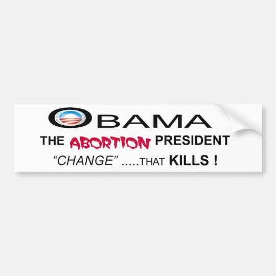 OBAMA ABORTION BUMPER STICKER