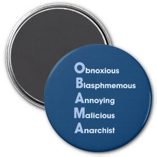Obama Acronym 7.5 Cm Round Magnet
