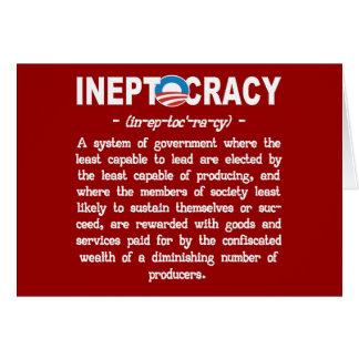 Obama Administration Ineptocracy Greeting Card