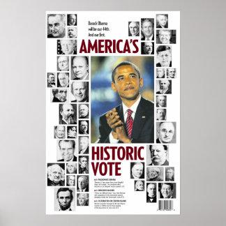 Obama America s Historic Vote Poster