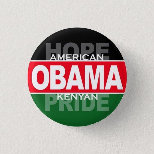 Obama -- American Hope, Kenyan Pride 3 Cm Round Badge