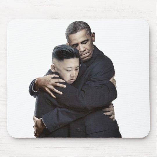 Obama and Kim Jong-Un Hugging Mouse Mat