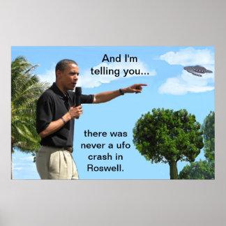 Obama and UFO Print