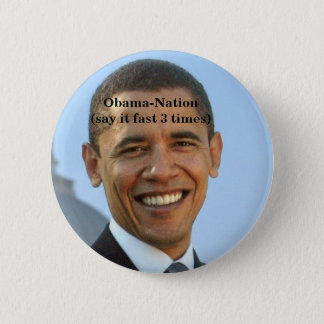 Obama-anti. 6 Cm Round Badge