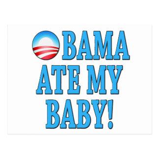 Obama Ate My Baby! Anti Obama Postcards