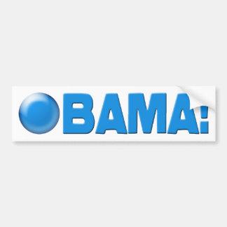 Obama!  (Baby Blue Bumper Sticker) Car Bumper Sticker