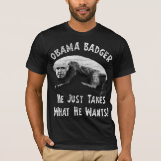 Obama Badger - distressed T-Shirt