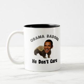 Obama Badger Obama Political Two-Tone Mug