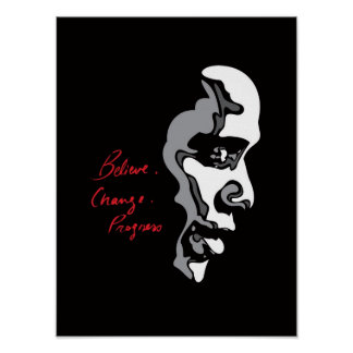 Obama: Believe Change Progress Poster