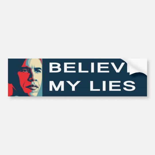 Obama Believe Sheeple Bumper Sticker