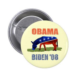 Obama Biden 08 Democratic Button Pin