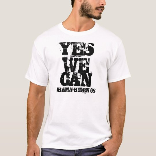 OBAMA-BIDEN 08, YES WE CAN T-Shirt