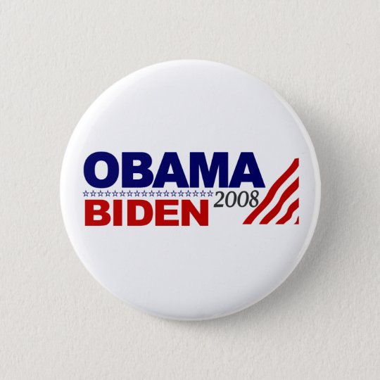 Obama Biden 2008 6 Cm Round Badge