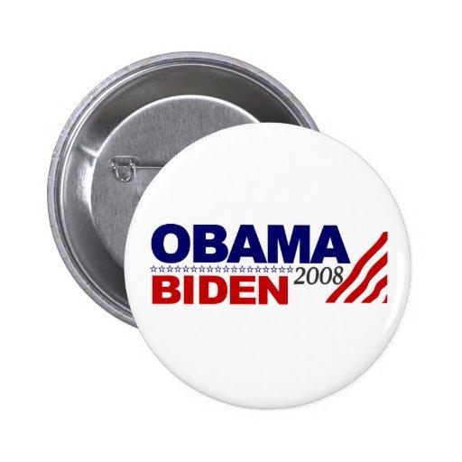Obama Biden 2008 6 Cm Round Badge