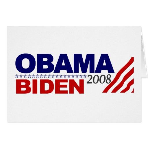 Obama Biden 2008 Greeting Card