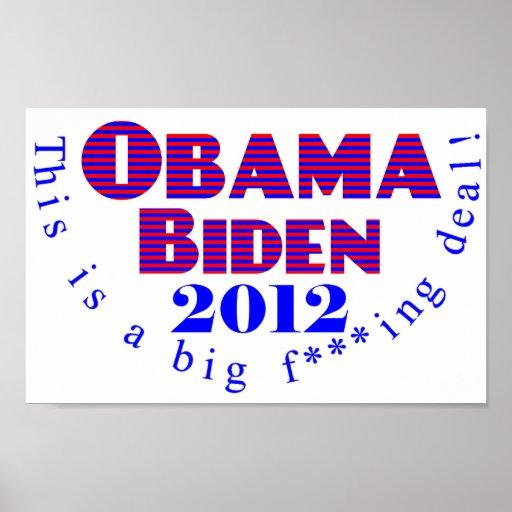 Obama Biden 2012 BFD Poster
