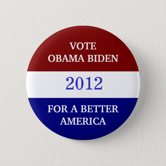 OBAMA BIDEN  2012 Button