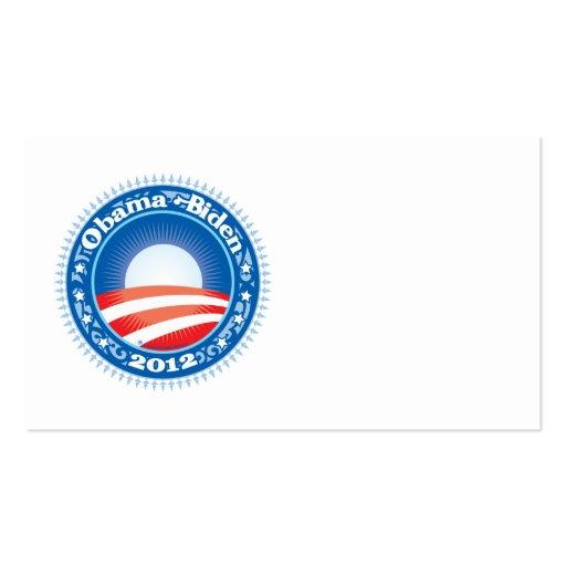 Obama Biden 2012 Circle Business Cards