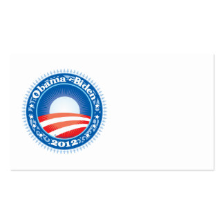 Obama Biden 2012 Circle Pack Of Standard Business Cards