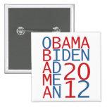 Obama - Biden 2012 cube Pin