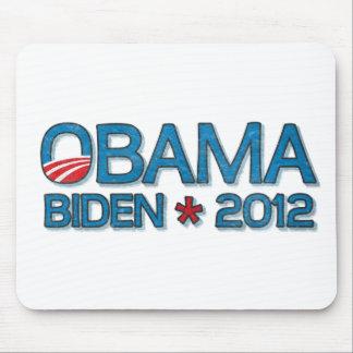 Obama Biden 2012 Dropshadow Blue Mousepads
